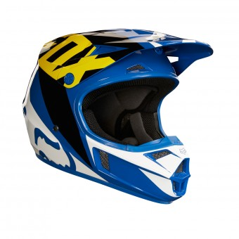 Casque Kids FOX V1 Race Blue White kids