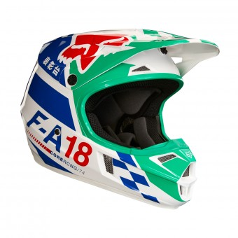 Casque Kids FOX V1 Sayak Green Kids