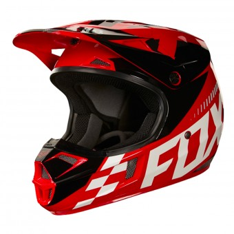 Casque Kids FOX V1 Sayak Red Kids