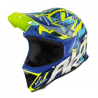 Casque Kids Airoh Archer Bump Blue Yellow