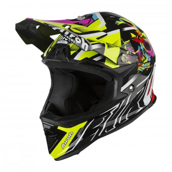 Casque Kids Airoh Archer Mistery Black Yellow Red