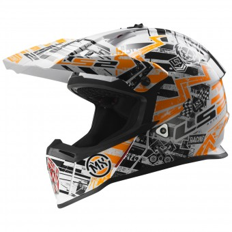 Casque Kids LS2 Fast Mini Glitch Orange MX437J