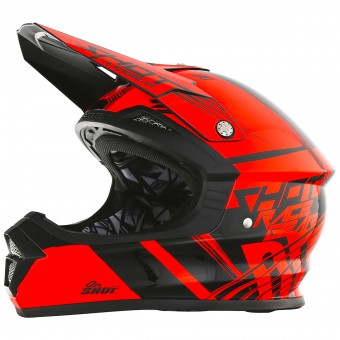 Casque Kids SHOT Furious Claw Neon Orange Kid