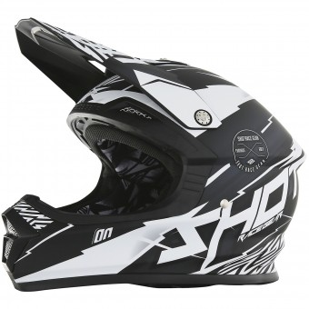 Casque Kids SHOT Furious Infinity Black White Matt Kid