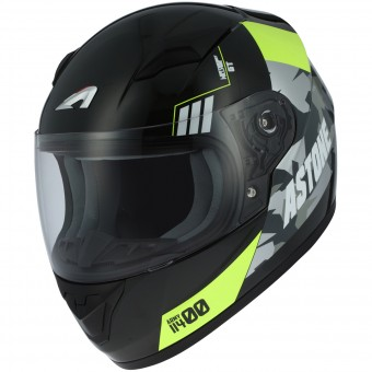 Casque Kids Astone GT2 Kids Army Black Yellow