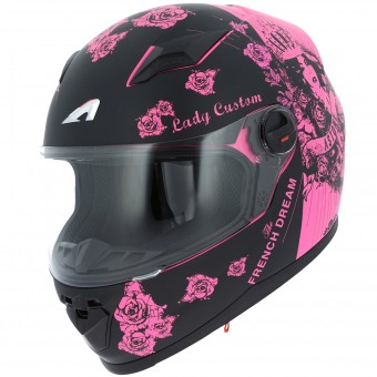 Casque Kids Astone GT2 Kids Lady Custom Black Pink