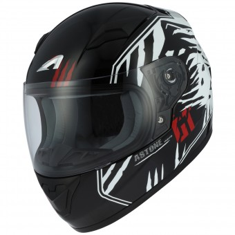 Casque Kids Astone GT2 Kids Predator Black White