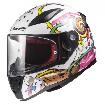 Casque Kids LS2 Rapid Mini Crazy Pop White Pink FF353J