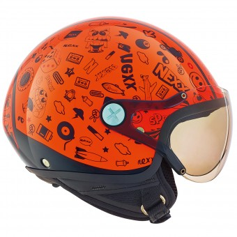 Casque Kids Nexx X60 Kids Spock Neon Orange