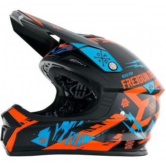 Casque Kids Freegun XP-4 Trooper Neon Orange Cyan Kid