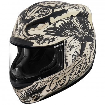 Casque Full Face ICON Airmada Scrawl Matt White