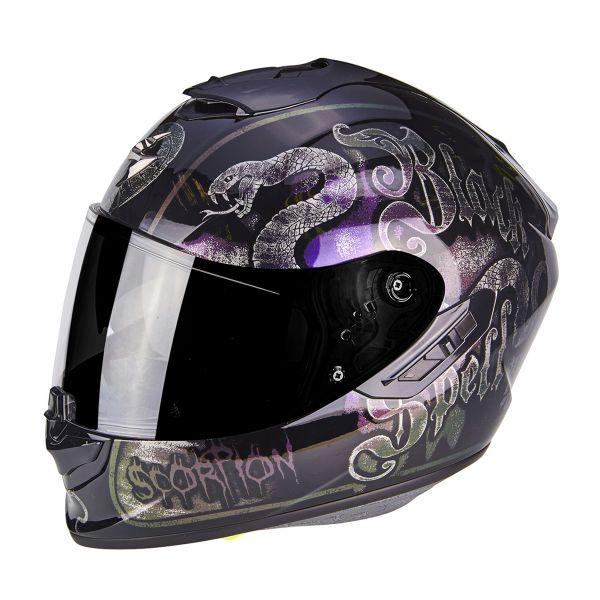 Full Face Scorpion Exo 1400 Air Blackspell Chameleon Black