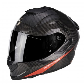 Casque Full Face Scorpion Exo 1400 Air Carbon Pure Neon Red
