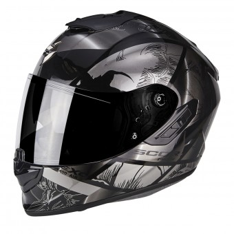 Casque Full Face Scorpion Exo 1400 Air Patch Black Silver