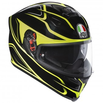 Casque Full Face AGV K-5 S Magnitude Black Yellow Fluo