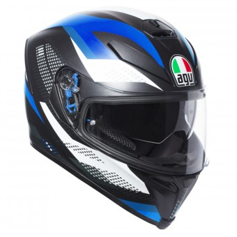Casque Full Face AGV K-5 S Marble Matt Black White Blue