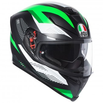 Casque Full Face AGV K-5 S Marble Matt Black White Green