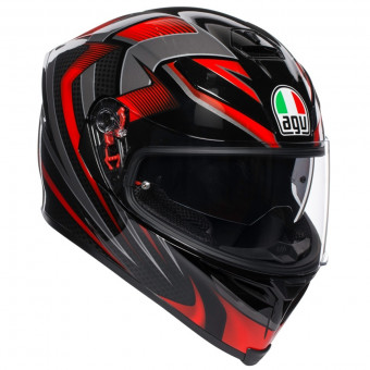 Casque Full Face AGV K-5 S Hurricane 2.0 Black Red