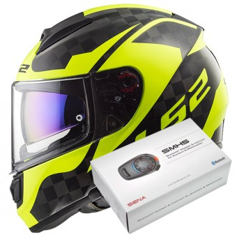 Casque Full Face LS2 Vector C Shine Carbon H-V Yellow FF397