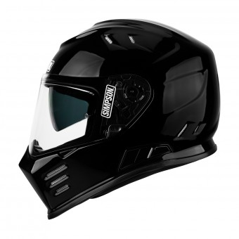Casque Full Face Simpson Venom Solid Glossy Black