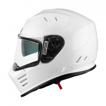 Casque Full Face Simpson Venom Solid Glossy White