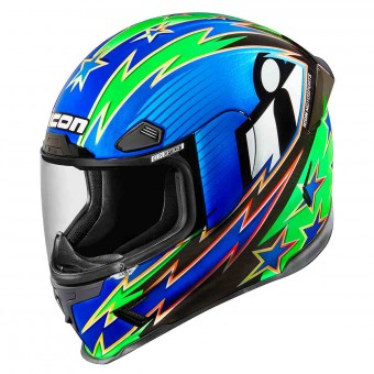 Casque Full Face ICON Airframe Pro Warbird Blue