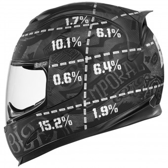 Casque Full Face ICON Airframe Statistic Black