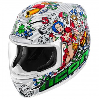 Casque Full Face ICON Airmada Lucky Lid 2 White