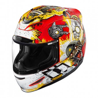 Casque Full Face ICON Airmada Monkey Business Red