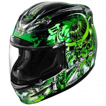Casque Full Face ICON Airmada Shadow Warrior Green