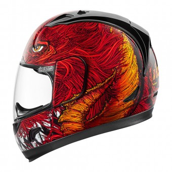Casque Full Face ICON Alliance Lucifer Red