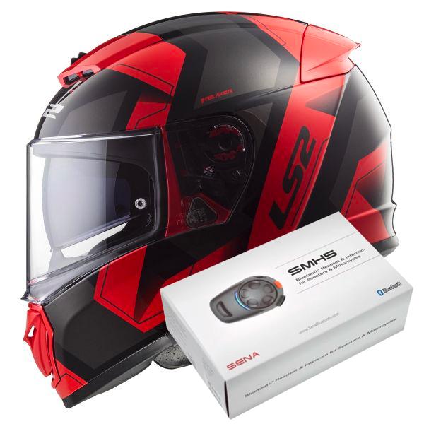 cead5009 Helmet LS2 Breaker Physics Black Red FF390 in stock | iCasque.co.uk