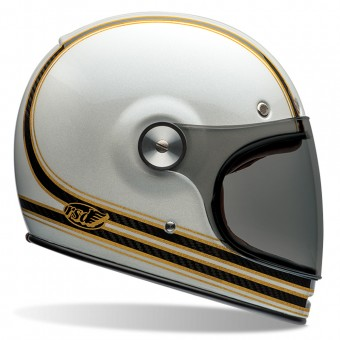 Casque Full Face Bell Bullitt Carbon Roland Sands Mojo White Gold