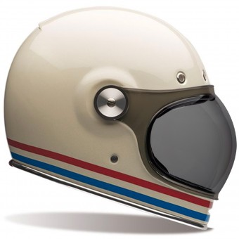 Casque Full Face Bell Bullitt Stripes Pearl White