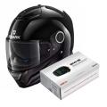 Pack Spartan 1.2 Blank BLK + Kit Bluetooth Sena SMH5