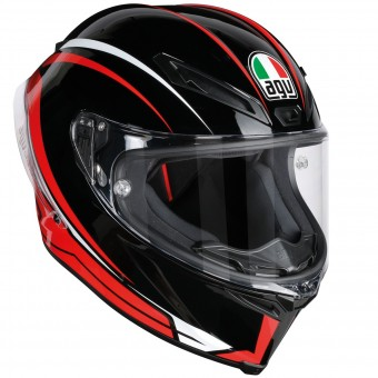 Casque Full Face AGV Corsa R Arrabbiata Black Red