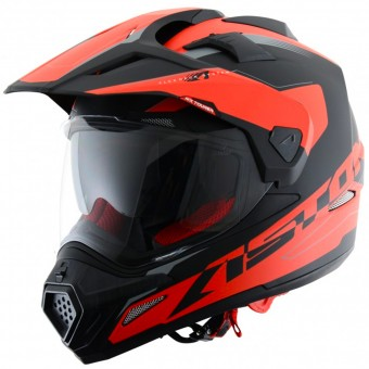Casque Full Face Astone Cross Tourer Adventure Matt Black Red