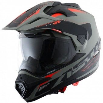 Casque Full Face Astone Cross Tourer Adventure Matt Grey Black