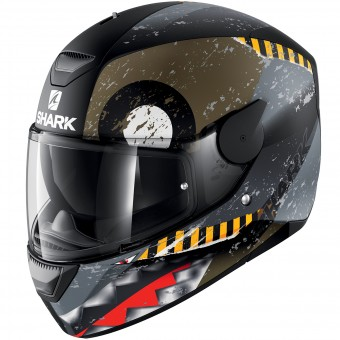 Casque Full Face Shark D-Skwal Saurus Mat KGA