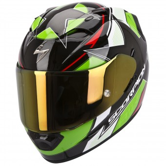 Casque Full Face Scorpion EXO 1200 Air Stella Green Red