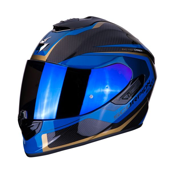 Full Face Scorpion Exo 1400 Air Carbon Esprit Black Blue
