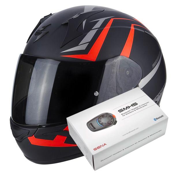 7d9c1534 Helmet Scorpion Exo 390 Hawk Matt Black Neon Red in stock | iCasque ...