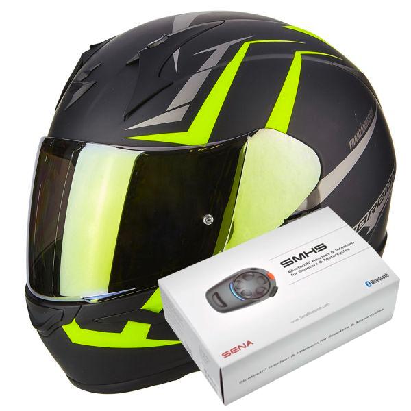 d3614642 Helmet Scorpion Exo 390 Hawk Matt Black Neon Yellow at the best ...