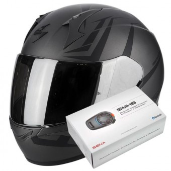 Casque Full Face Scorpion Exo 390 Hawk Matt Dark Silver Black