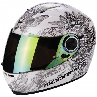 Casque Full Face Scorpion Exo 490 Dream White Chameleon
