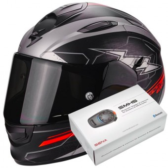 Casque Full Face Scorpion Exo 510 Air Cross Matt Black Silver Neon Red
