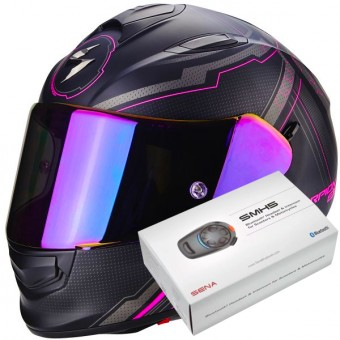 Casque Full Face Scorpion Exo 510 Air Sync Matt Black Pink