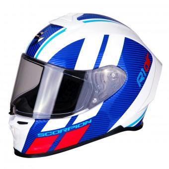 Motorcycle helmets Scorpion EXO-R1 AIR OGI Black-Blue Noir//Bleu L