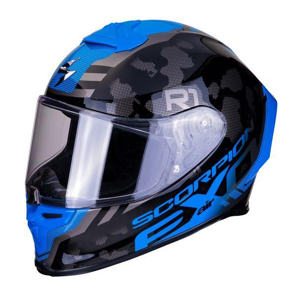 Full Face Scorpion Exo R1 Air Ogi Silver Blue