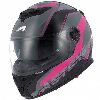 Casque Full Face Astone GT 800 Wire Black Pink